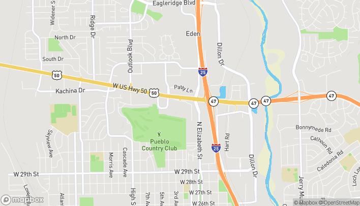 Mapa de 810 Hwy 50 West en Pueblo