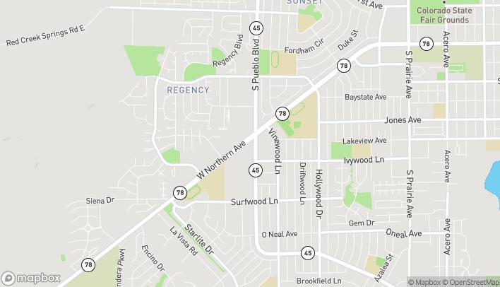 Mapa de 4010 W Northern en Pueblo