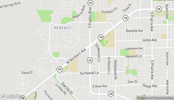 Map of 4010 W Northern in Pueblo