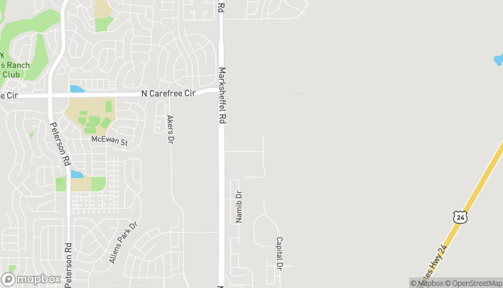Map of 7895 Silicon Heights in Colorado Springs