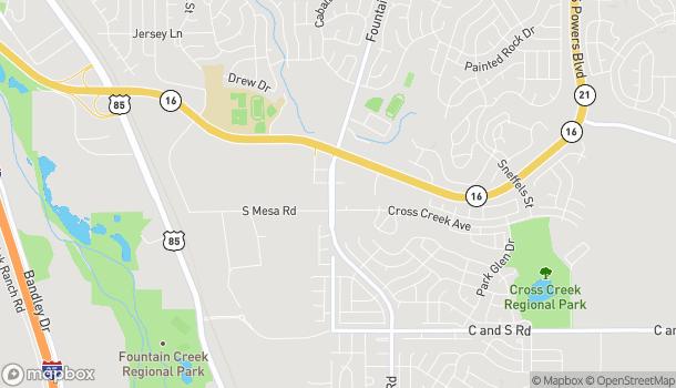 Mapa de 7965 Fountain Mesa Rd en Fountain