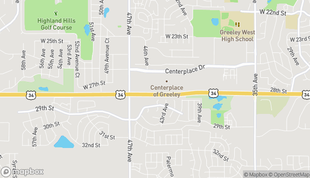 Map of 4524 Centerplace Dr in Greeley