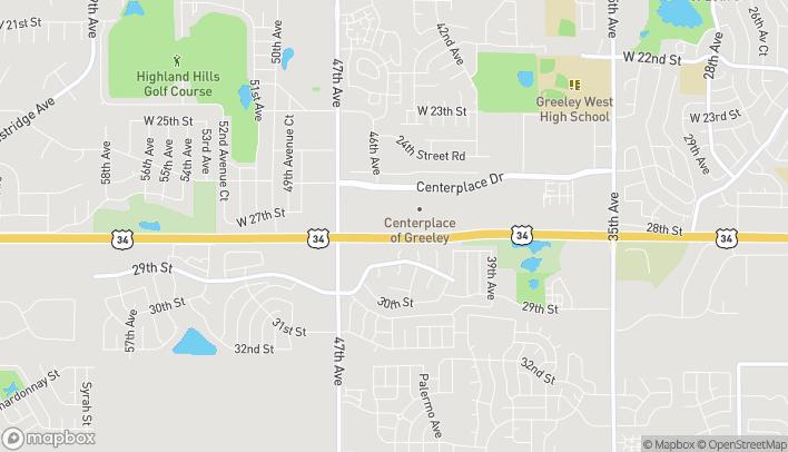 Mapa de 4524 Centerplace Dr en Greeley
