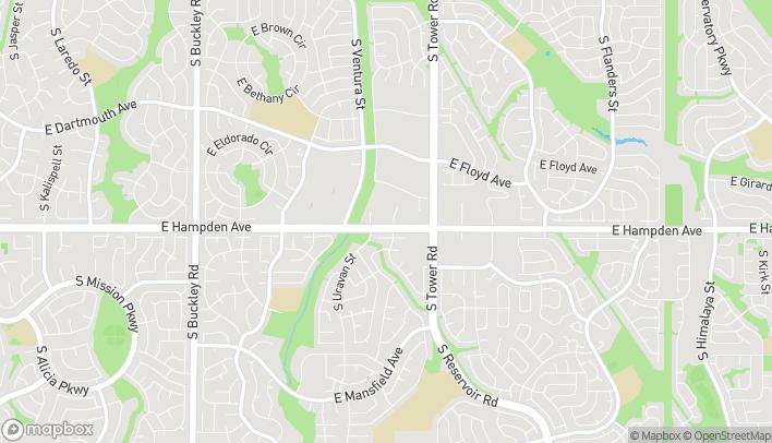 Map of 18191 E Hampden Ave in Aurora