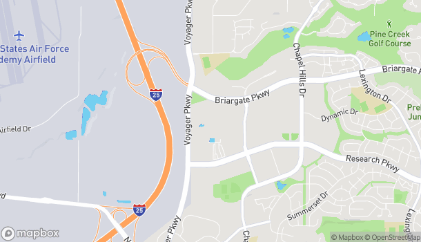 Map of 1645 Briargate Pkwy in Colorado Springs