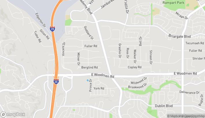 Map of 7158 N. Academy Blvd in Colorado Springs