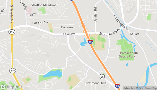 Map of 1610 Cheyenne Mountain Blvd in Colorado Springs