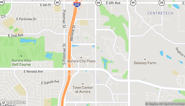 Map of 14401 E Bayaud Ave in Aurora