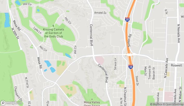 Map of 3244 Centennial Blvd in Colorado Springs