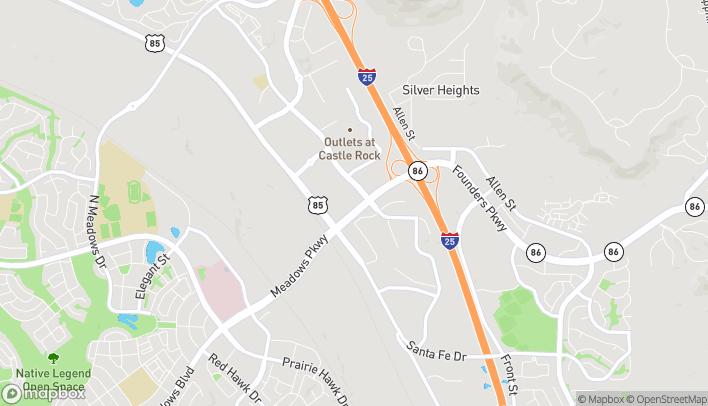 Mapa de 4989 Factory Shops Blvd en Castle Rock
