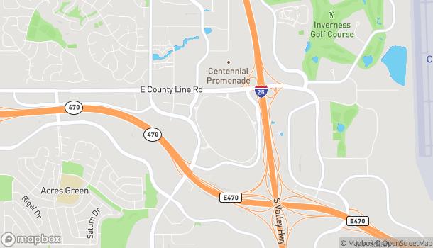 Mapa de 8425 Park Meadows Center Dr en Lone Tree