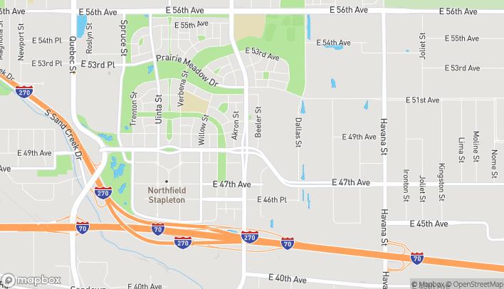 Map of 9165 E Northfield Blvd in Denver