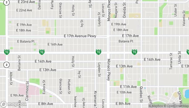 Mapa de 6160 E Colfax Ave en Denver