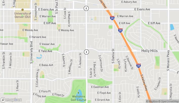 Map of 2720 S Colorado Blvd in Denver