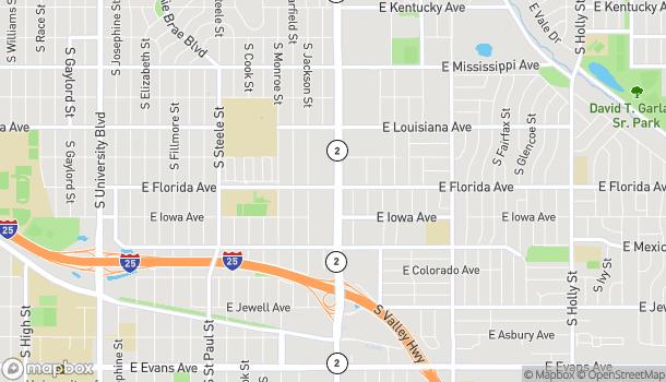 Map of 1501 S Colorado Blvd in Denver