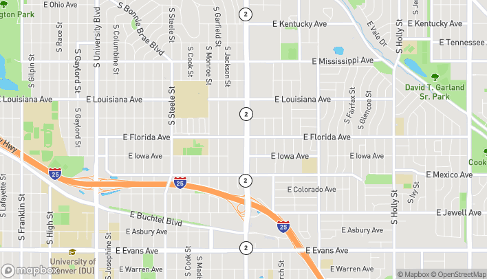 Mapa de 1501 S Colorado Blvd en Denver