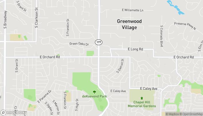 Mapa de 5900 S University Blvd en Greenwood Village