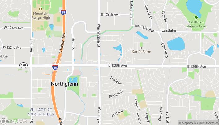 Mapa de 951 E 120th Ave en Thornton