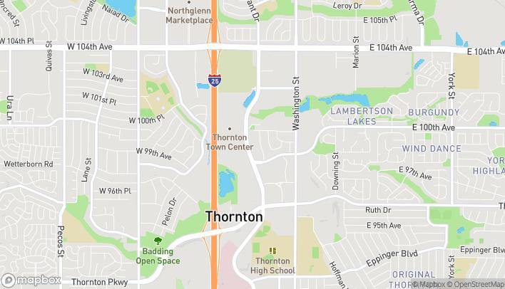 Mapa de 9894 Grant St en Thornton