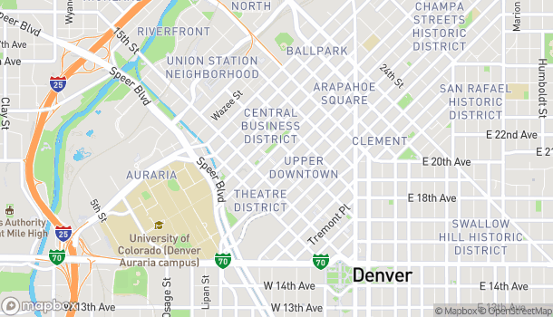 Map of 1001 16th St in Denver