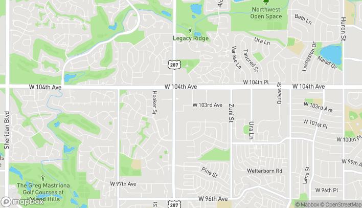 Mapa de 10250 Federal Blvd en Federal Heights