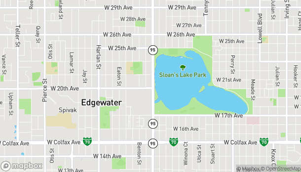 Map of 2001 Sheridan Blvd in Edgewater