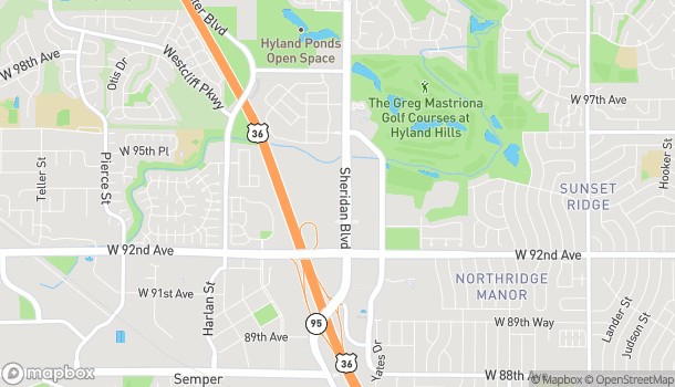 Map of 9379 Sheridan Blvd in Westminster