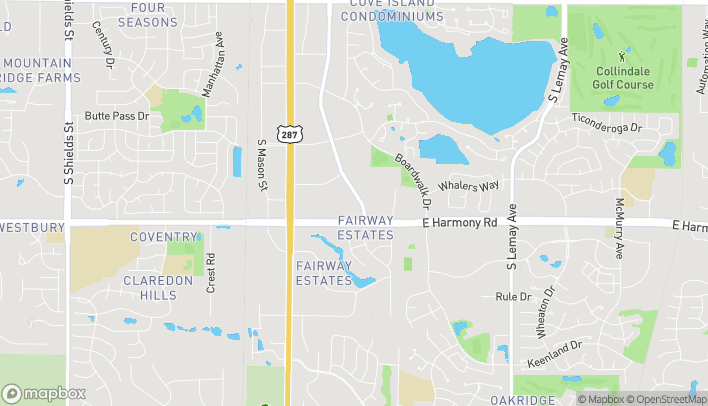 Map of 4515 John F Kennedy Pkwy in Fort Collins
