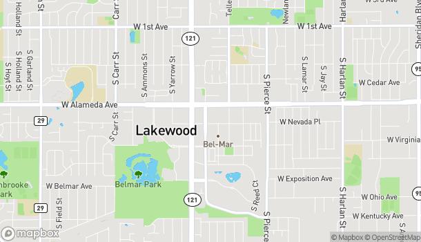 Mapa de 7365 W Alaska Drive en Lakewood