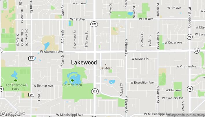 Map of 7365 W Alaska Drive in Lakewood