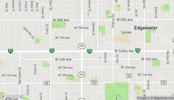 Map of 7475 W Colfax Ave in Lakewood