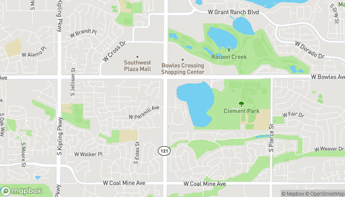 Map of 8246 W Bowles Ave in Littleton