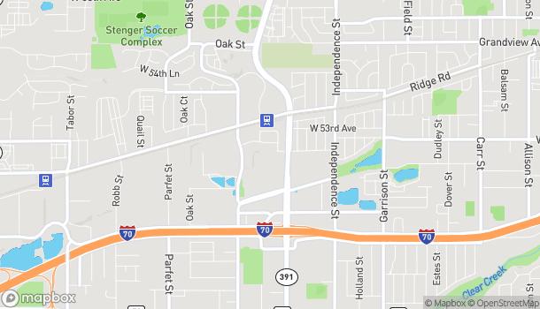 Mapa de 5131 Kipling Street en Wheat Ridge