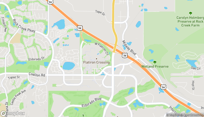 Map of 1 W Flatiron Crossing Dr in Broomfield