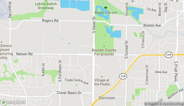 Map of 589 S Hover Street in Longmont