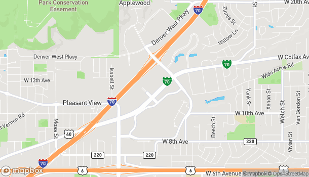 Map of 14195 W. Colfax Avenue in Lakewood