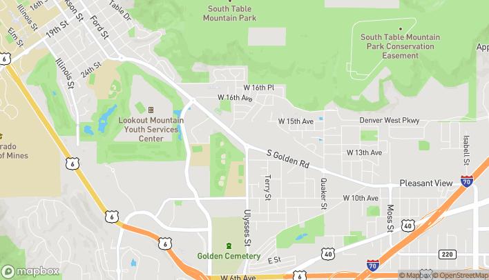 Mapa de 17207 South Golden Road en Golden