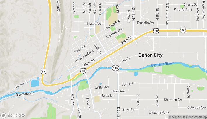 Map of 730 Royal Gorge Rd in Canon City