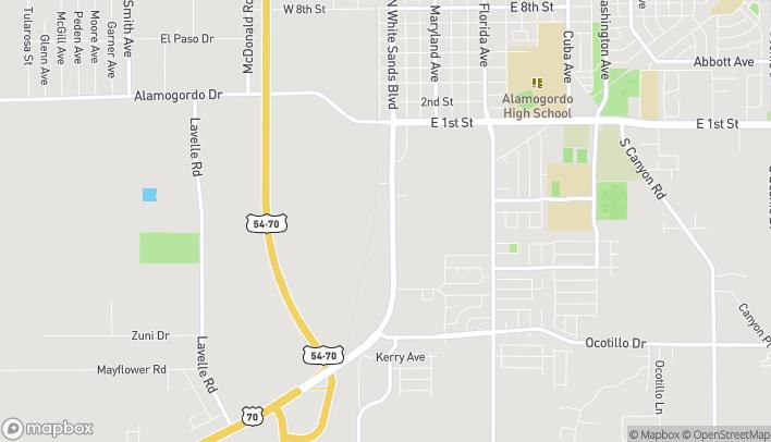 Map of 650 South White Sands Boulevard in Alamogordo