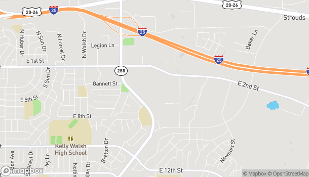Map of 601 SE Wyoming Blvd in Casper