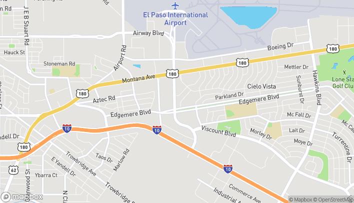 Map of 1300 Airway Blvd in El Paso