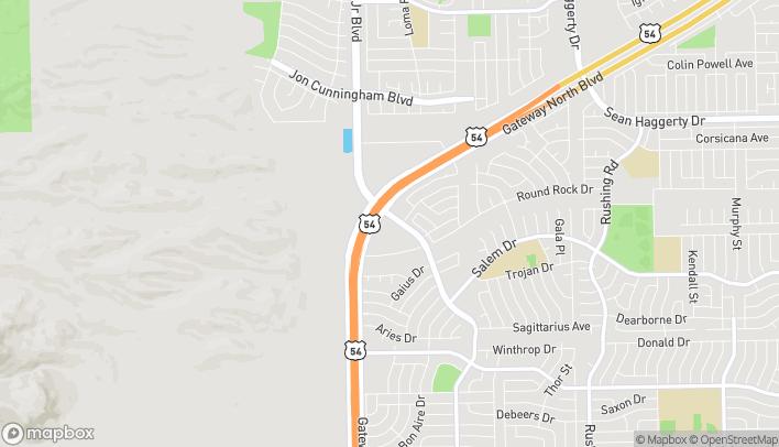 Map of 10765 Kenworthy in El Paso