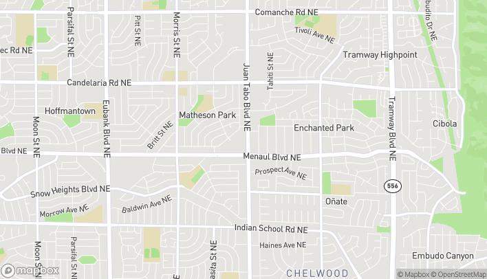 Map of 11213 Menaul Blvd NE in Albuquerque