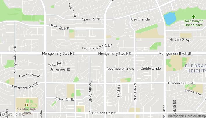Map of 9500 Montgomery Blvd in Albuquerque