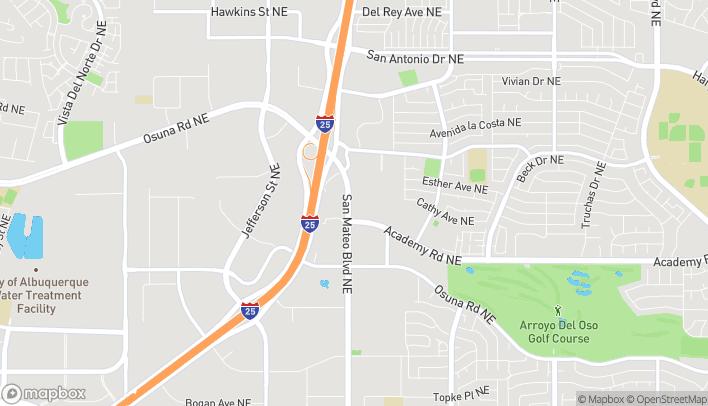 Map of 6300 San Mateo Blvd NE in Albuquerque