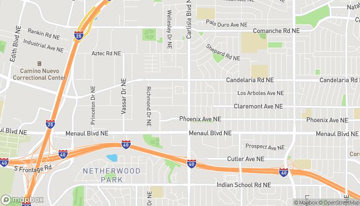 Map of 2839 Carlisle Blvd NE in Albuquerque