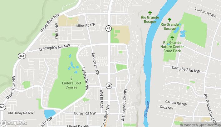 Map of 3600 Coors Blvd NW in Albuquerque