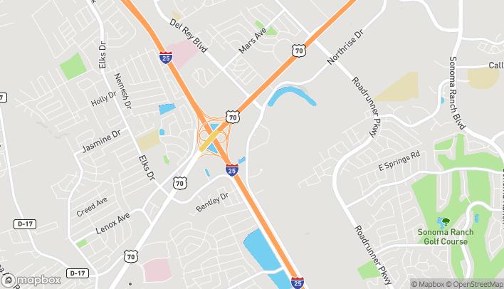 Map of 2808 N Telshor Blvd in Las Cruces