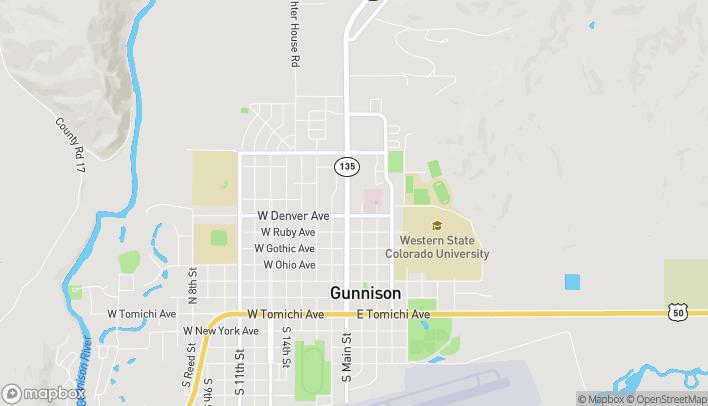 Map of 714 Main Street in Gunnison