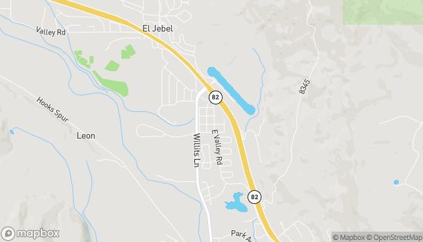 Mapa de 870 E Valley Rd en Basalt
